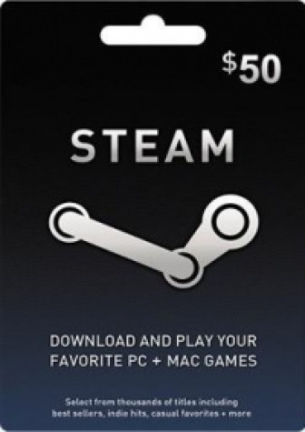 Steam Wallet Code USD 50
